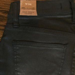 Madewell High Riser Skinny Coated Jeans